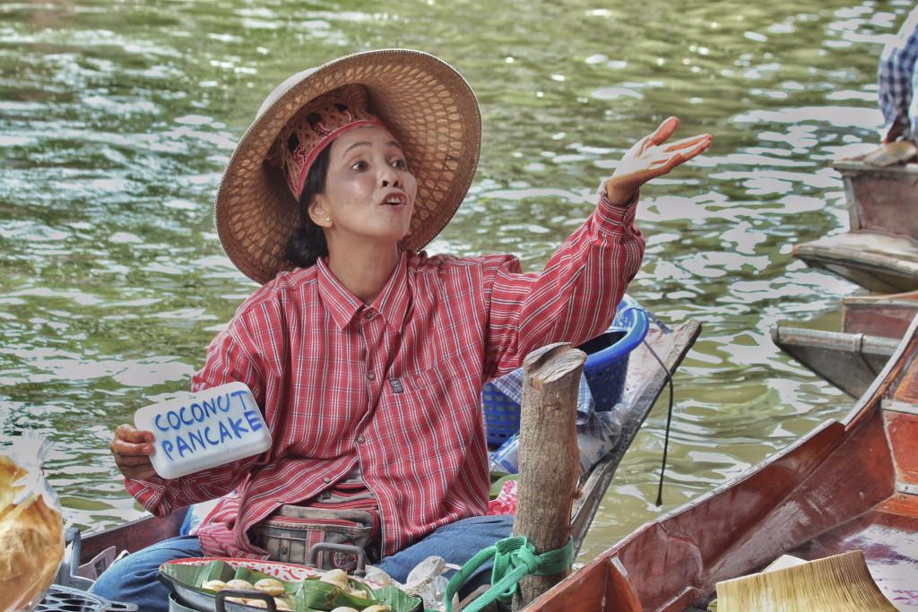 Thailand 2015. Schwimmender Markt von Damnoen Saduak.