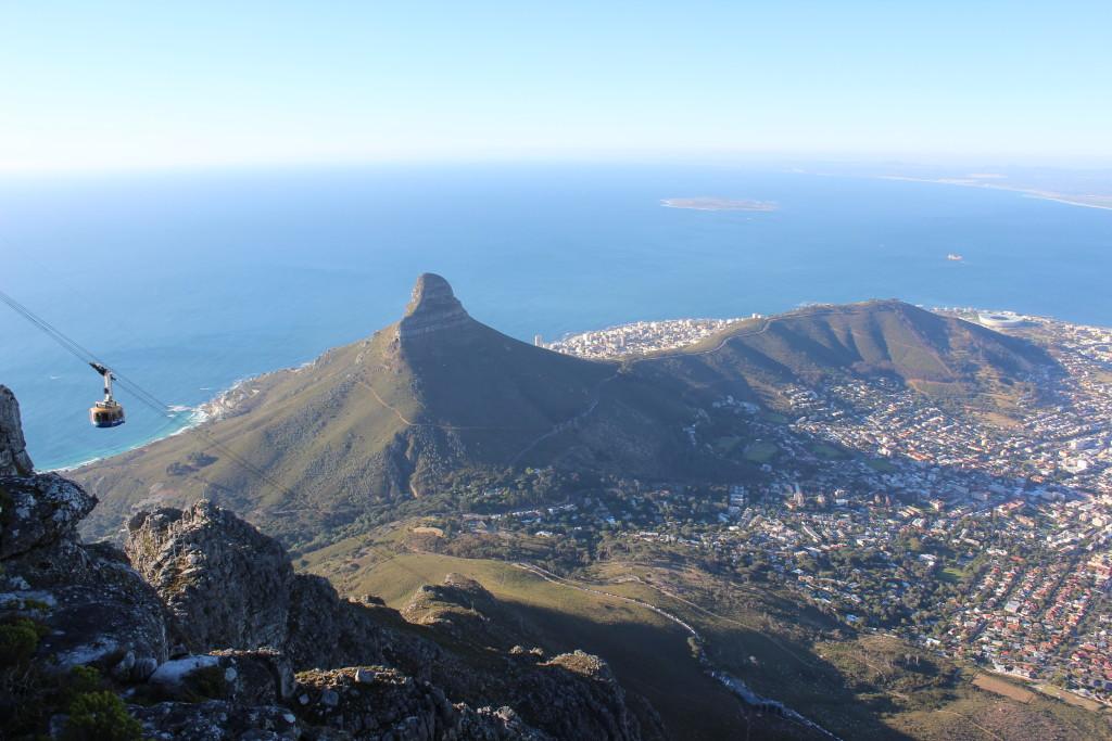 Südafrika 2011. Kapstadt. Im Hintergrund: Robben Island.